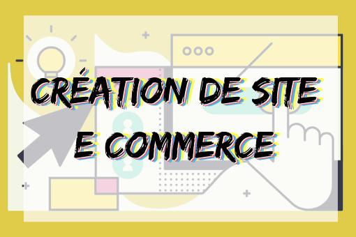 Infographie création de site e-commerce