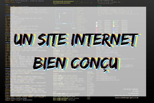 Infographie un site internet bien conçu