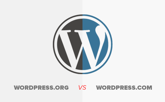 Logo wordpress.com vs wordpress.org
