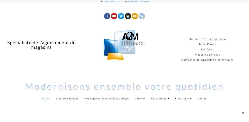 Création site internet A2M-DiffsionGKwebsite