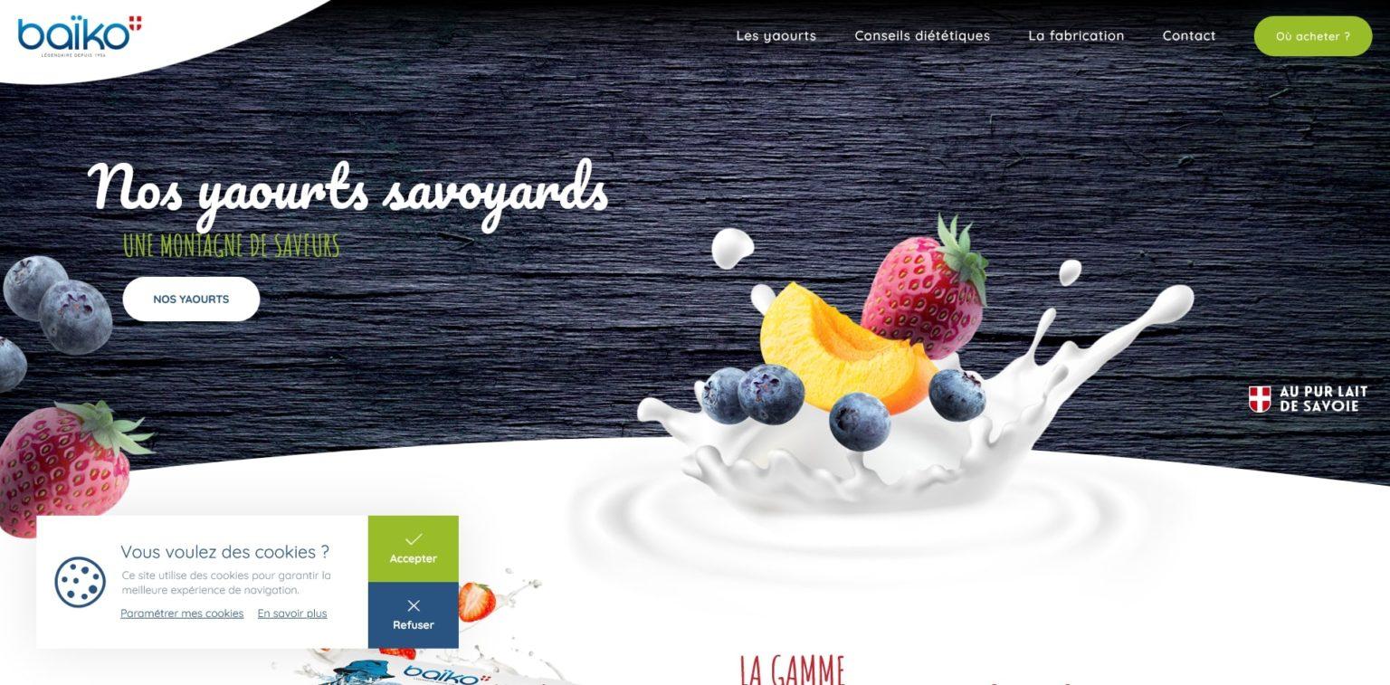 Création site internet baiko-saveurs GKwebsite